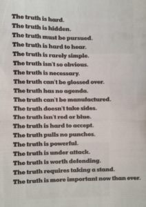 NYT advert about truth