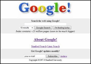 original Google search
