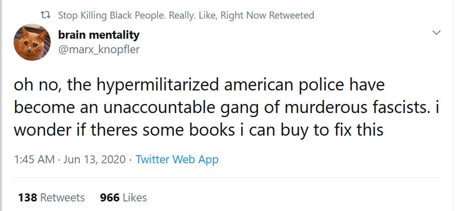 Sarcastic Twitter post