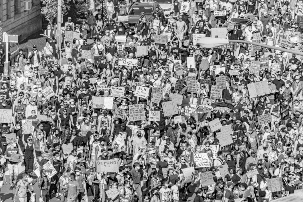 Large GEorge Floyd protest in Washington DC