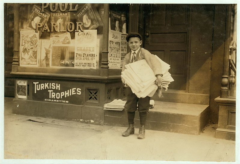 a ten year old newsie from 1912