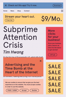 covercover of subprime attention crisis