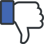 """Facebook """"like"""" icon upside down"""